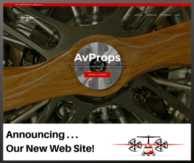 AvProps Announces New Web Site